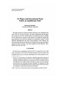 D0 Wages and International Trade - Journal of Economic Integration