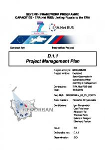D.1.1 Project Management Plan - GEOURBAN Project