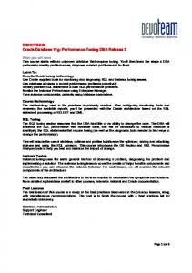 D50317GC20 Oracle Database 11g: Performance Tuning DBA ...