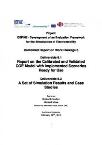 D_6.1 & 6.2_Report on the Calibrated and Validated CGE Model & A ...