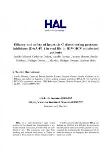 (DAA-PI ) in real life in HIV-HCV coinfected patients