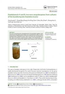 Daedaleanols A and B, two new sesquiterpenes from cultures of the ...