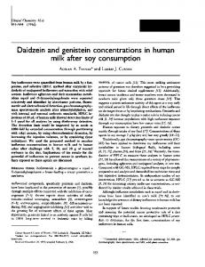 Daidzein and genistein concentrations in human ... - Clinical Chemistry