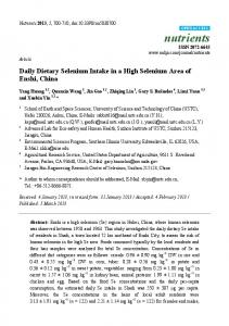 Daily Dietary Selenium Intake in a High Selenium ... - BioMedSearch