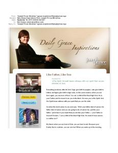 Daily Grace Inspirations From Joseph Prince Ministries
