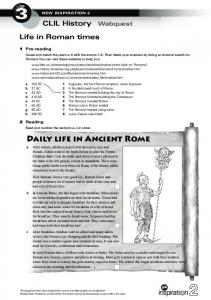 Daily life in Ancient Rome - Inspiration