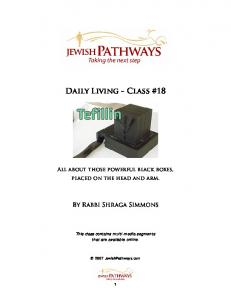 Daily Living - Class #18 - Pathways