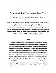 Daily Market News Sentiment and Stock Prices - Qmi