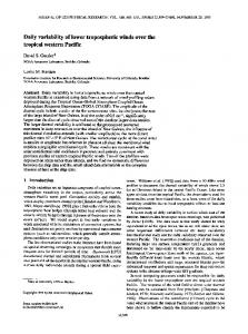 Daily variability of lower tropospheric winds over ... - Wiley Online Library
