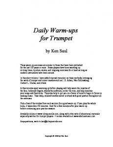 Daily Warm-ups for Trumpet