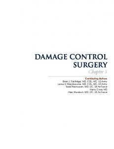 damage control surgery - US Army Medical Department Center ...