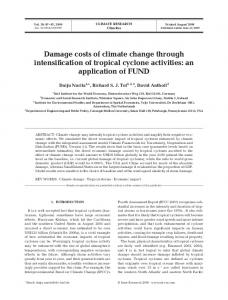 Damage costs of climate change through intensification of tropical ...