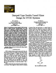 Damped-Type Double Tuned Filters Design for HVDC ... - CiteSeerX
