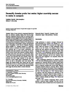 Damselfly females prefer hot males: higher courtship success in males ...