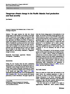 Dangerous climate change in the Pacific Islands: food ... - Springer Link