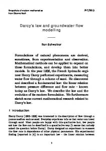 Darcy's law and groundwater flow modelling - MFO, Oberwolfach