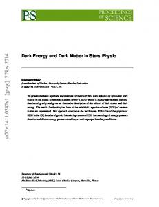 Dark Energy and Dark Matter in Stars Physic