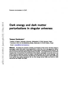 Dark energy and dark matter perturbations in singular universes - arXiv