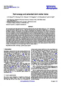 Dark energy and extended dark matter halos - Astronomy & Astrophysics