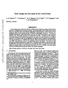 Dark energy and the mass of the Local Group