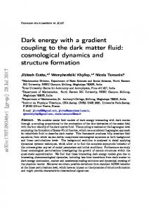 Dark energy with a gradient coupling to the dark matter fluid - arXiv