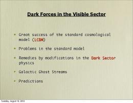 Dark Forces in the Visible Sector