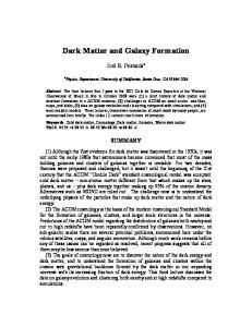 Dark Matter and Galaxy Formation