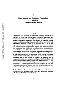 Dark Matter and Structure Formation in the Universe