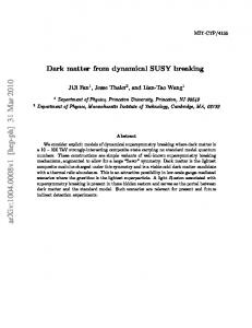 Dark matter from dynamical SUSY breaking