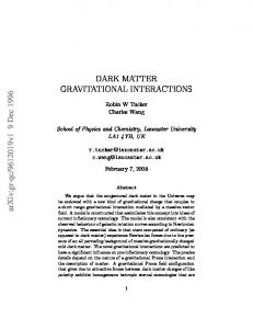 Dark Matter Gravitational Interactions