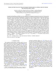 dark matter halos in the standard cosmological model ... - IOPscience