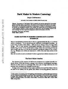 Dark Matter in Modern Cosmology