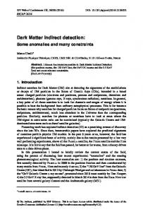 Dark Matter indirect detection:Some anomalies and many constraints