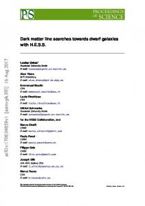 Dark matter line searches towards dwarf galaxies with HESS