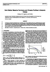 Dark Matter Massive Fermions and Einasto Profiles in Galactic Haloes