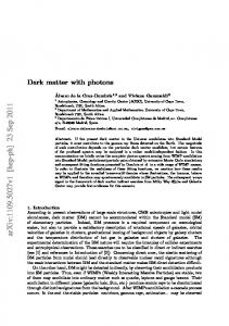 Dark matter with photons