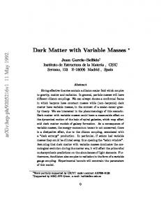 Dark Matter with Variable Masses