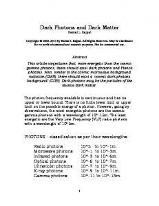 Dark Photons and Dark Matter - viXra.org