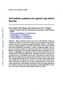 Dark Radiation predictions from general Large Volume Scenarios
