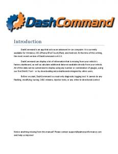 DashCommand Users Manual - Palmer Performance