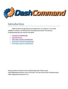 DashCommand Users Manual