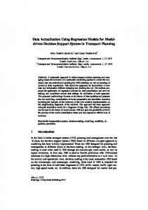 Data Actualization Using Regression Models for ...