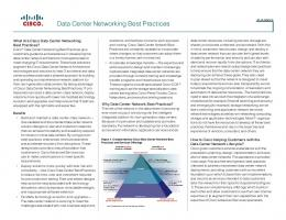 Data Center Networking Design Best Practices - Cisco