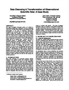 Data Cleansing & Transformation of Observational ... - Semantic Scholar