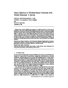 Data Collection in Wireless Sensor Networks with Mobile ... - CiteSeerX