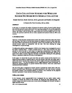 data collection scheme for wireless sensor network with mobile collector