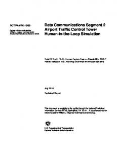 Data Communications Segment 2 Airport Traffic ...
