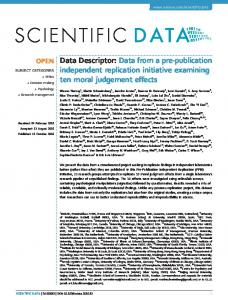 Data Descriptor: Data from a pre-publication independent ... - Nature