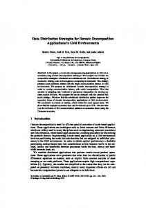 Data Distribution Strategies for Domain ... - Semantic Scholar