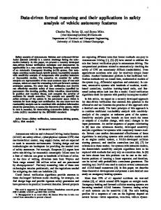 Data-driven formal reasoning and their applications in safety analysis ...